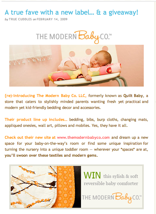 modern baby giveaway