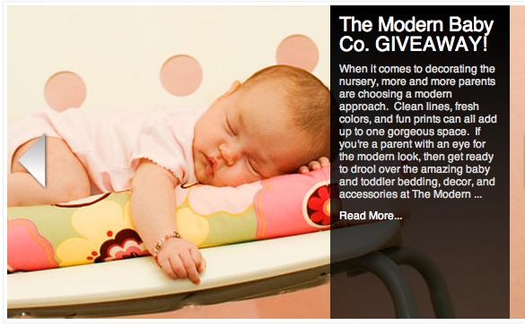 modern baby blanket giveaway